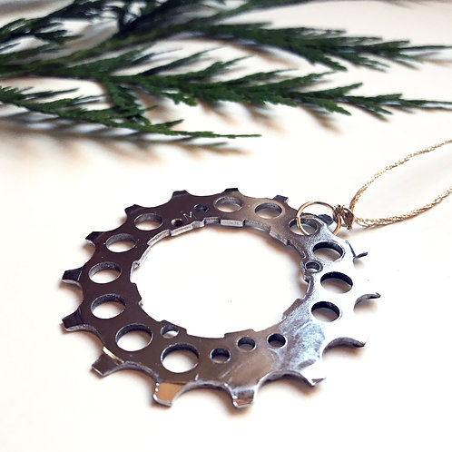 Bicycle Gear Holiday Ornament