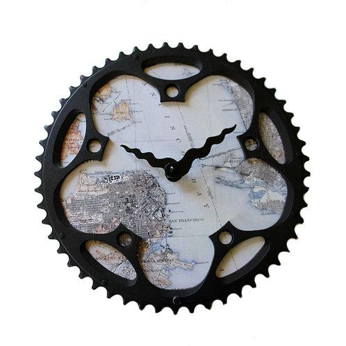 San Francisco Bicycle Clock | Large
