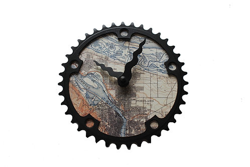 Portland Bicycle Clock |Medium