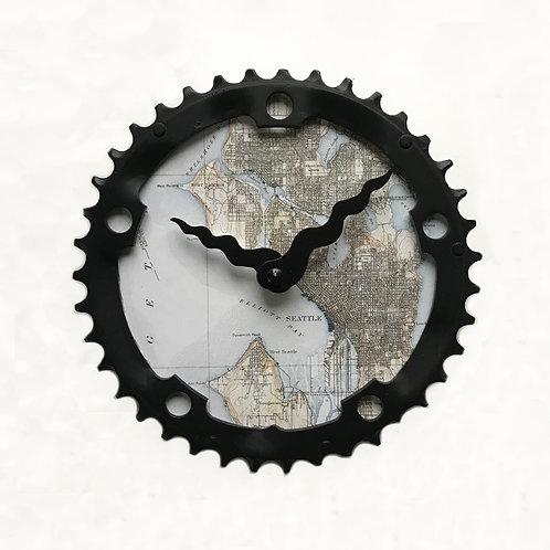 Seattle Bicycle Clock  Medium