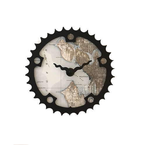Seattle Bicycle Clock | Small
