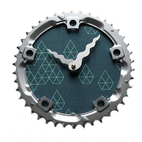 Geometric Diamonds Bicycle Clock | Medium
