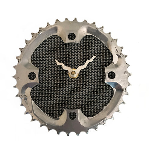 Houndstooth Bicycle Clock | Small