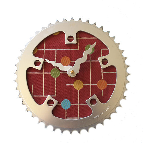 Modern Red Gumdrops Bicycle Clock | Medium