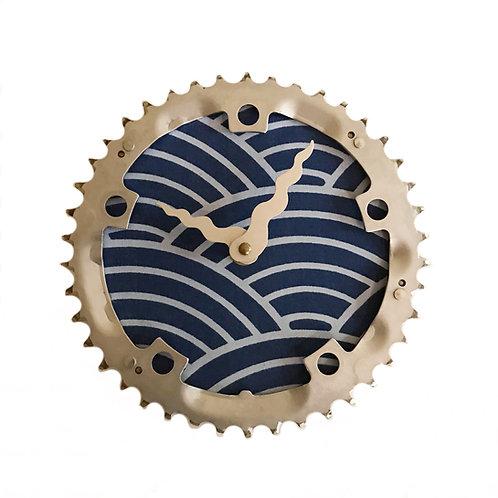 Blue Scallop Bicycle Clock | Medium