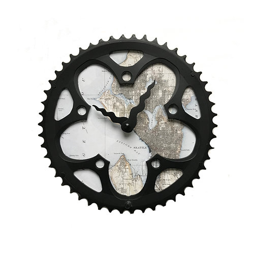 Seattle Bicycle Clock | Large