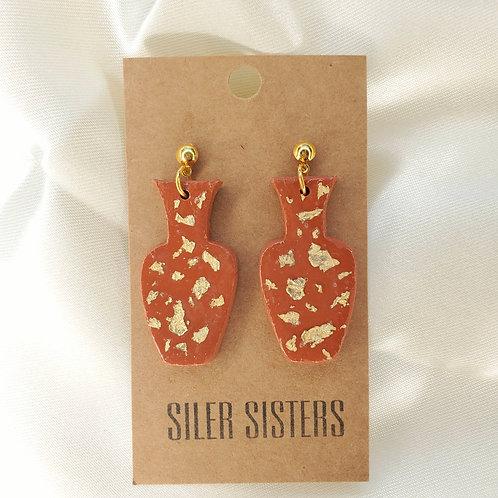 Terra Cotta Vase Earrings