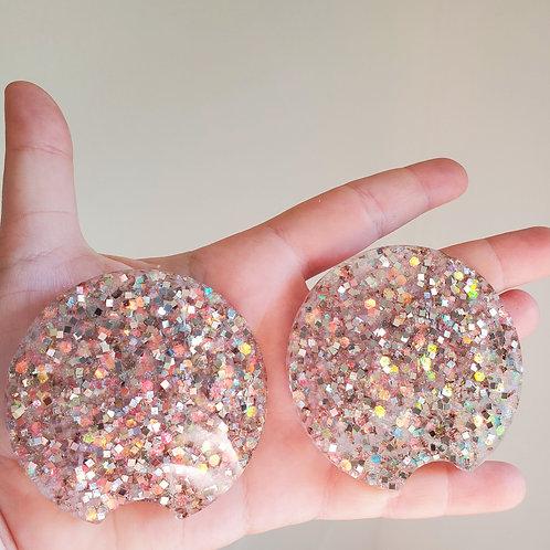 Champagne Glitter Car Coasters