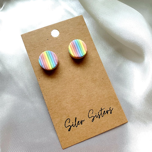 Iris Rainbow Studs