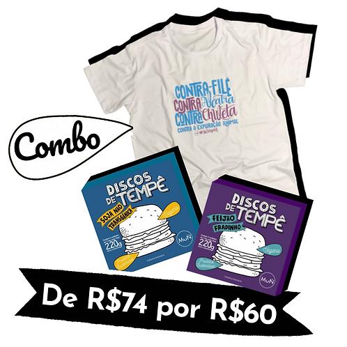 COMBO 1 camiseta e 2 caixas de discos de Tempê