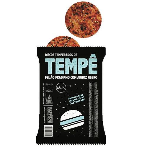 Discos de Tempê de feijão fradinho temperados