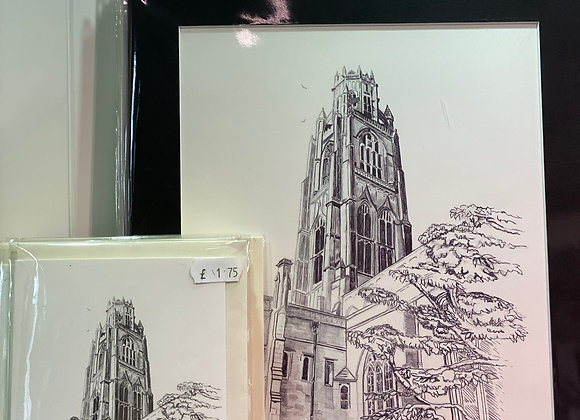 Boston Stump Looking Up- Framed Print