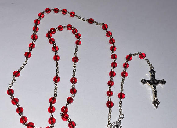 Red Bead Rosary