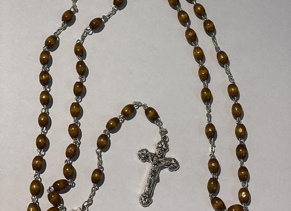 Small Light Wood Rosary