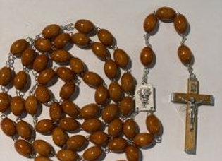 Extra Large Light Wood Rosary