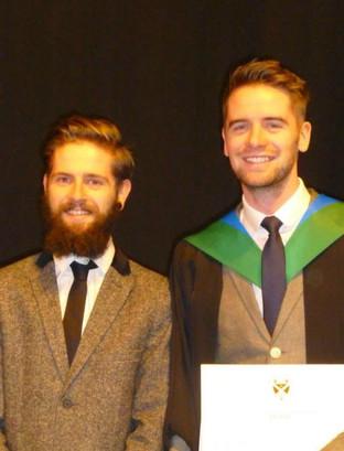 Jim's graduation with John