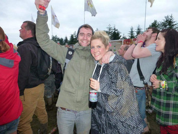 Jim with Suzanne at a festival