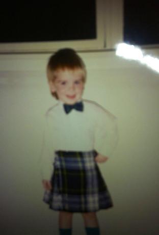 Jim's first kilt