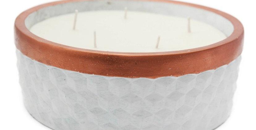 Vela aromático em Concreto friso cobre G