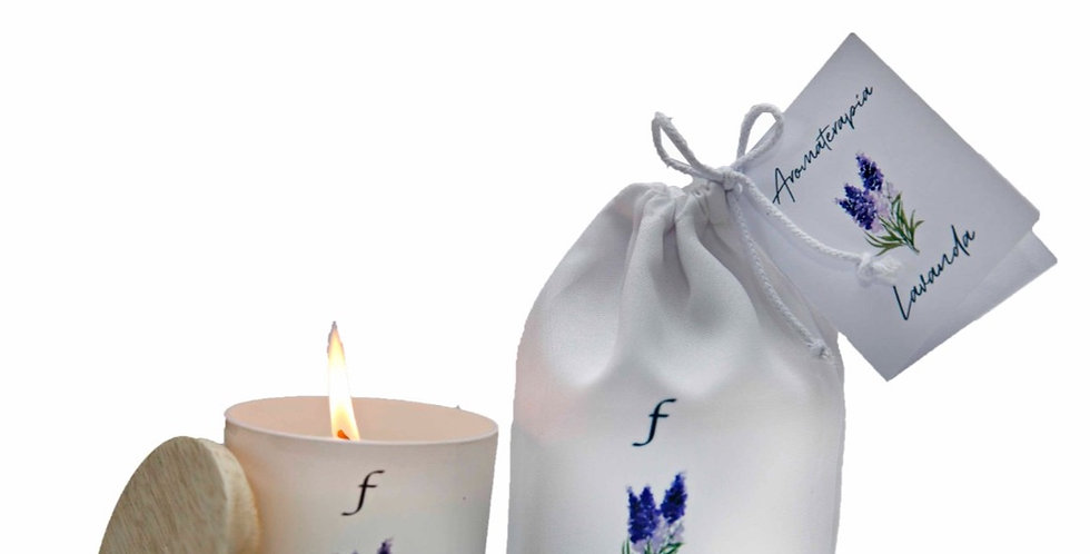 Vela Lavanda aromaterapia