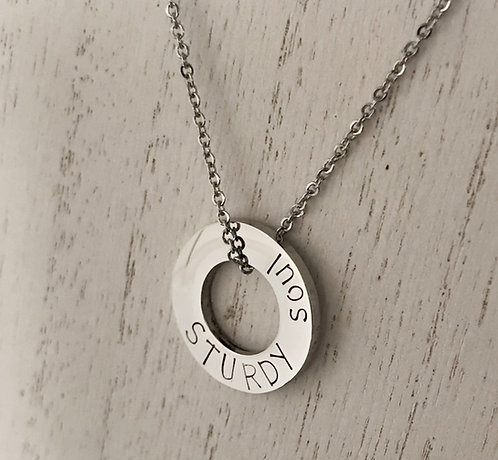 Stainless Steel Washer Pendants