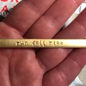 We love it when people order our favorite Snarklets! Just stamped this one. 😍😍 Run, fall, rise.jpg