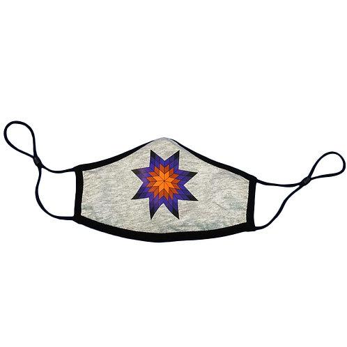 Purple Star Quilt Face Mask
