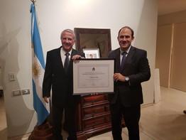 La Embajada Argentina en Israel organizó un Acto de Reconocimiento al Productor Yair Dori.