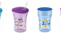 Vasos NUK para que sus Bebés aprendan a beber como adultos