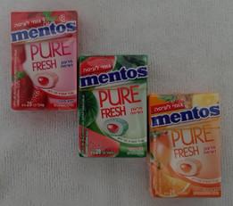 """""""Mentos"""" ahora chicles Mentos PURE FRESH en caja"""