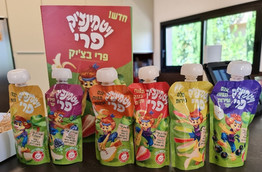 Vitaminchik Pri serie de nuevos ( bolsitas) pouchs de frutas con vitamina C para niños