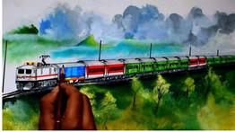 La Asociación de Artistas de Art Unity de Jaffa organizó una Exposición muy especial en un tren,