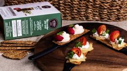 Galletas saladas saludables de Bikurim Food and Pastry