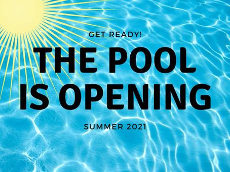 POOL OPENING SATURDAY, JUNE 12