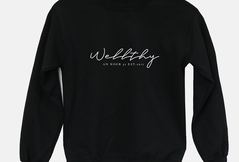 WELLthy Sweatshirt (Black)