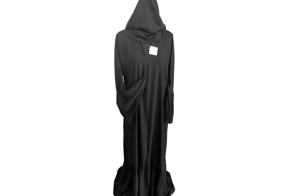 Pleated Frilled Abaya
