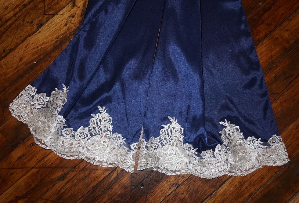 Blue Turkish Shayla (Cream Lace)
