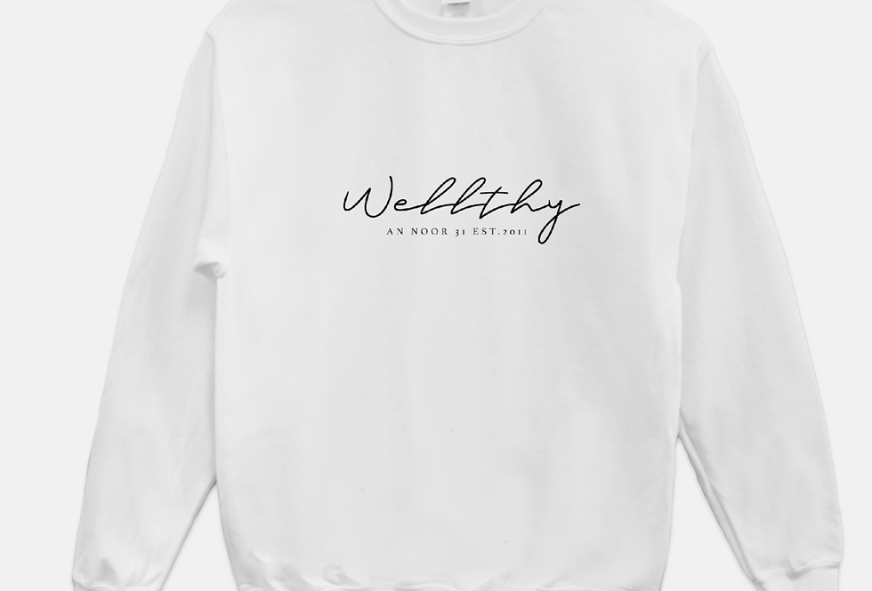 WELLthy Sweatshirt (White)