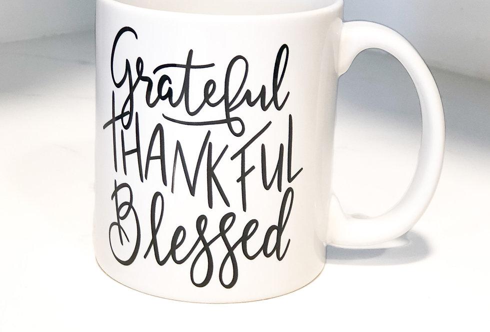 'Grateful Thankful Blessed' Mug
