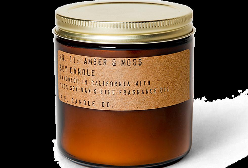 P.F. Amber & Moss Candle