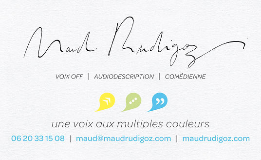 Maud Rudigoz Voix Off Paris