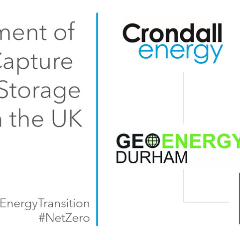 Crondall Energy join WSP-led consortium, providing technical advice to the UK government on CCUS