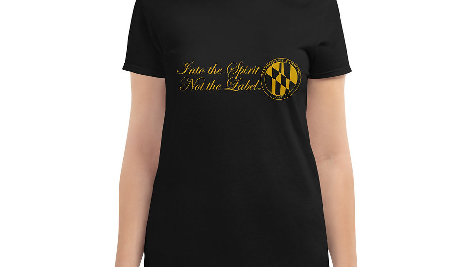 INTO THE SPIRIT NOT THE LABEL - Women's short sleeve t-shirt