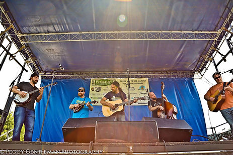 Pet Smith & TheGrateful String Band peformig at Frankfort Bluegrass Festival on July 15th, 2018