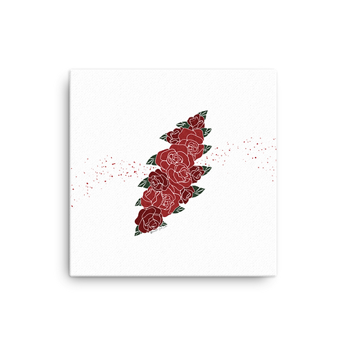 Red Floral Bolt - Canvas