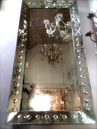 Gorgeous Aged Mirror with detailed Frame