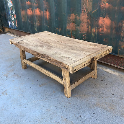 recycled elm coffee table
