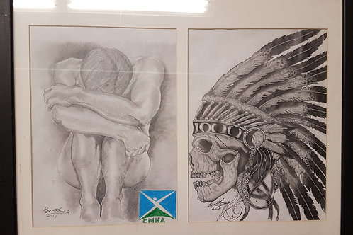 Male Nude / Skull Chief