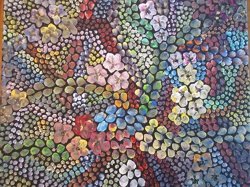 3D flower Mosaic