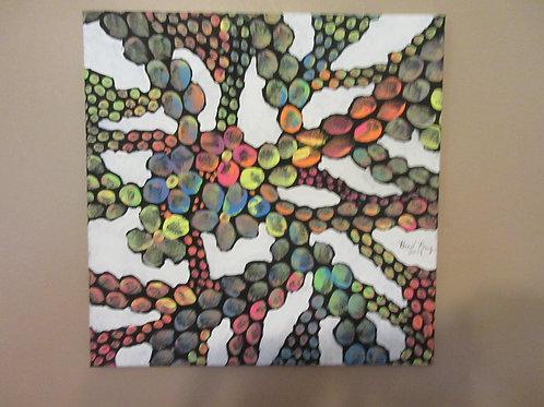 White Neon mosaic